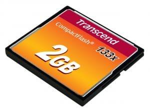 כרטיס טרנסנד CF 2GB מהירות X133