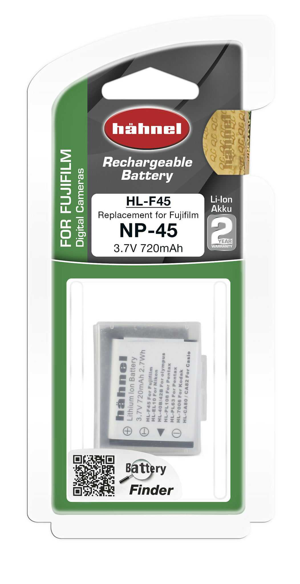 סוללה נטענת חליפית לפוג'י NP-45