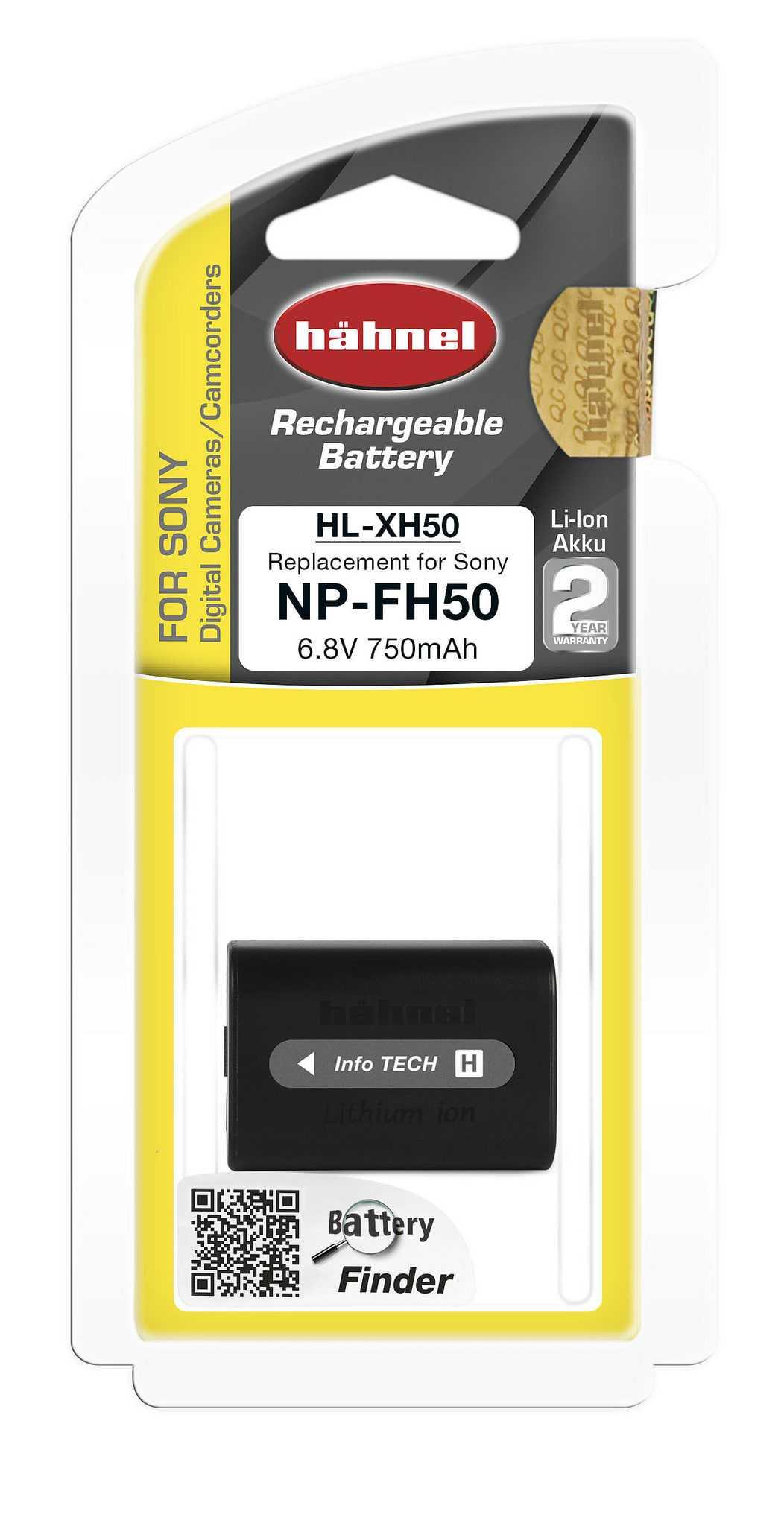 סוללה נטענת חליפית לסוני NP-FH50