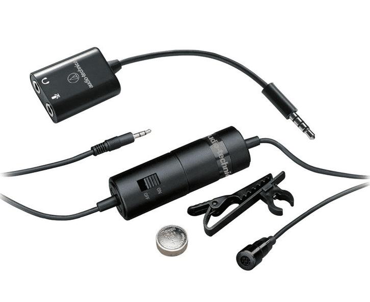 מיקרופון עם מתאם להקלטת שיחות בנייד