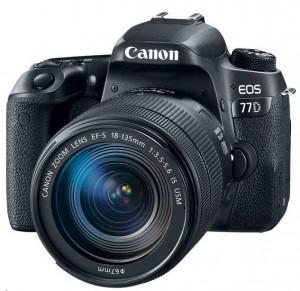 מצלמת רפלקס EOS 77D עם עדשה 18-135
