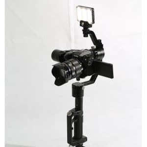 Light and mic support arm for gimbal