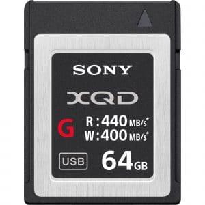 כרטיס זיכרון SONY XQD בנפח 3264GB