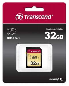 כרטיס זיכרון TRANSCEND 32GB 500S
