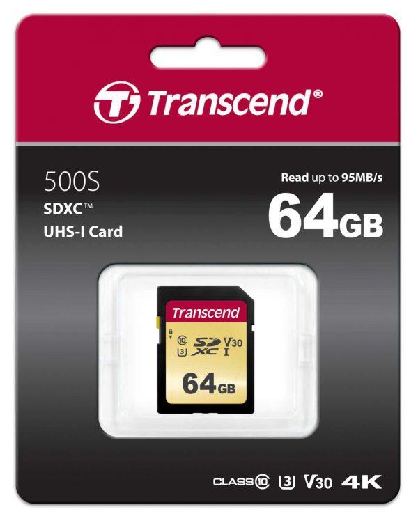 כרטיס זיכרון TRANSCEND 64GB 500S