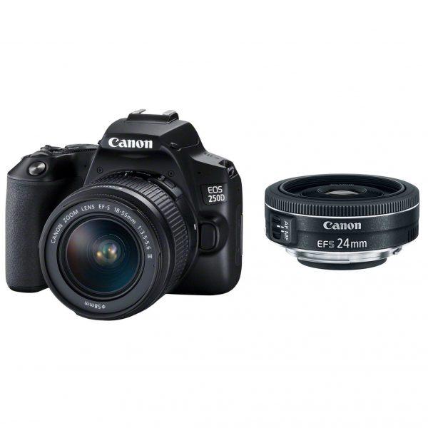 מצלמת קנון EOS 250D+18-55mm+24mm