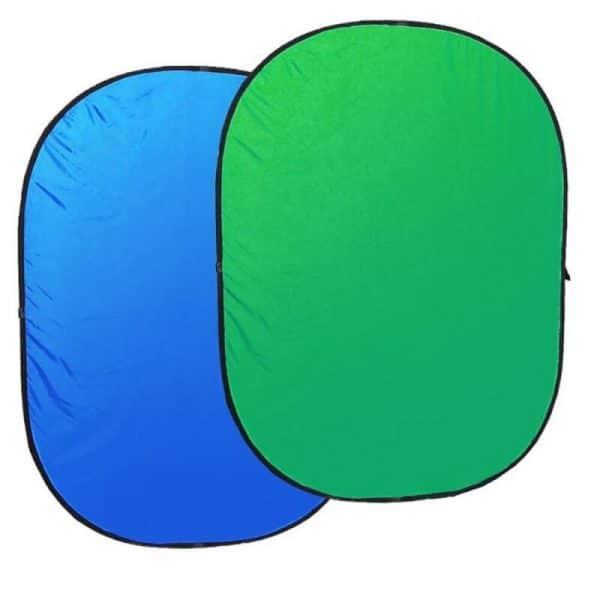 רקע בד 150X200 כחול ירוק כרומה קיי מתקפל