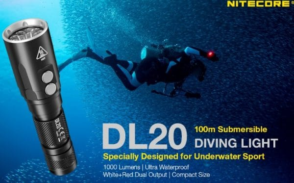 Nitecore DL20 Diving Light