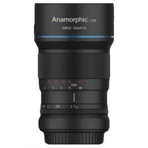 Sirui 50mm F1.8 Anamorphic 1.33X Lens