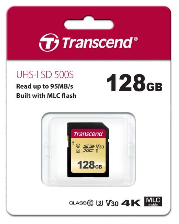 כרטיס זיכרון TRANSCEND SD 128GB