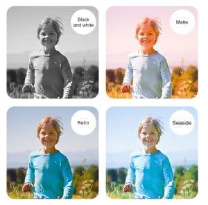 מצלמה לילדים עם אפקטים