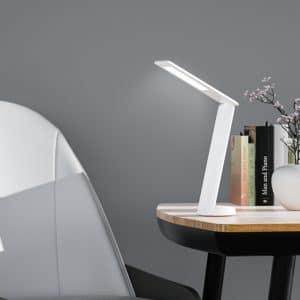 מנורת LED לשולחן עם טעינה לנייד