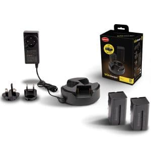 HAHNEL TRIO CHARGER KIT WITH 2  BATTERIES