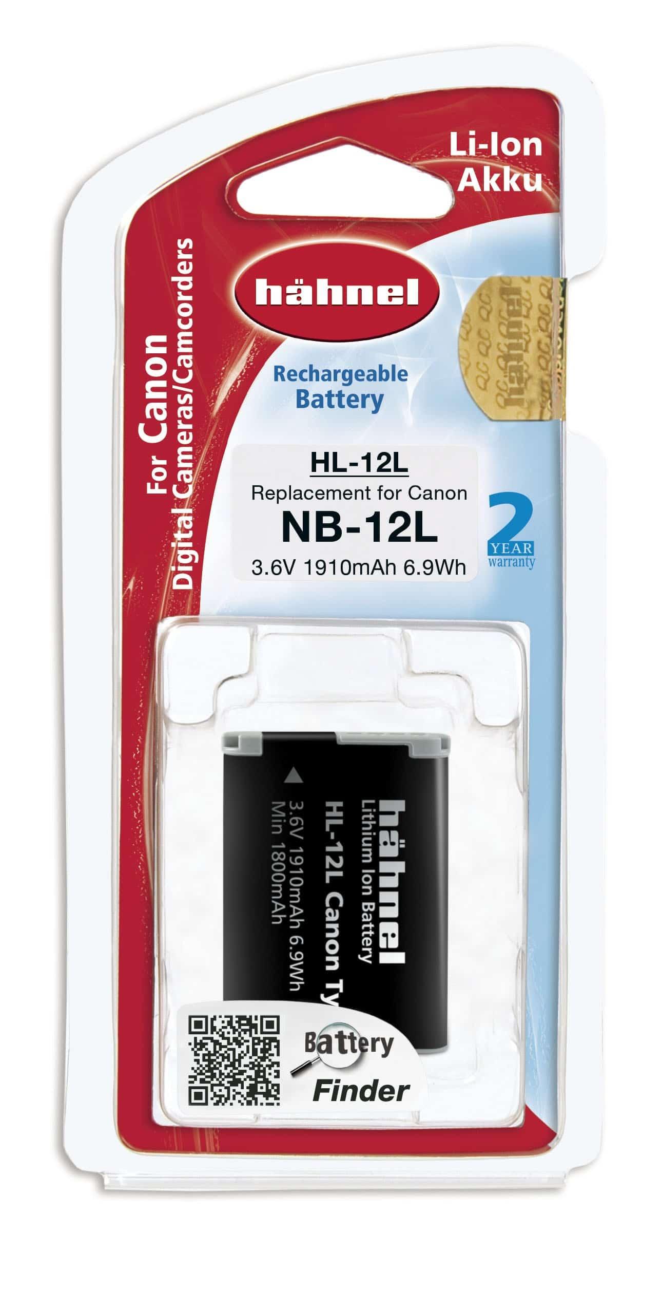 סוללה נטענת חליפית CANON NB-12L